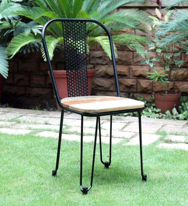 Lennox Metal Chair in Black Color by Bohemiana