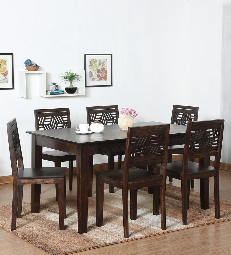 Lerro Solid Wood Six Seater Dining Set