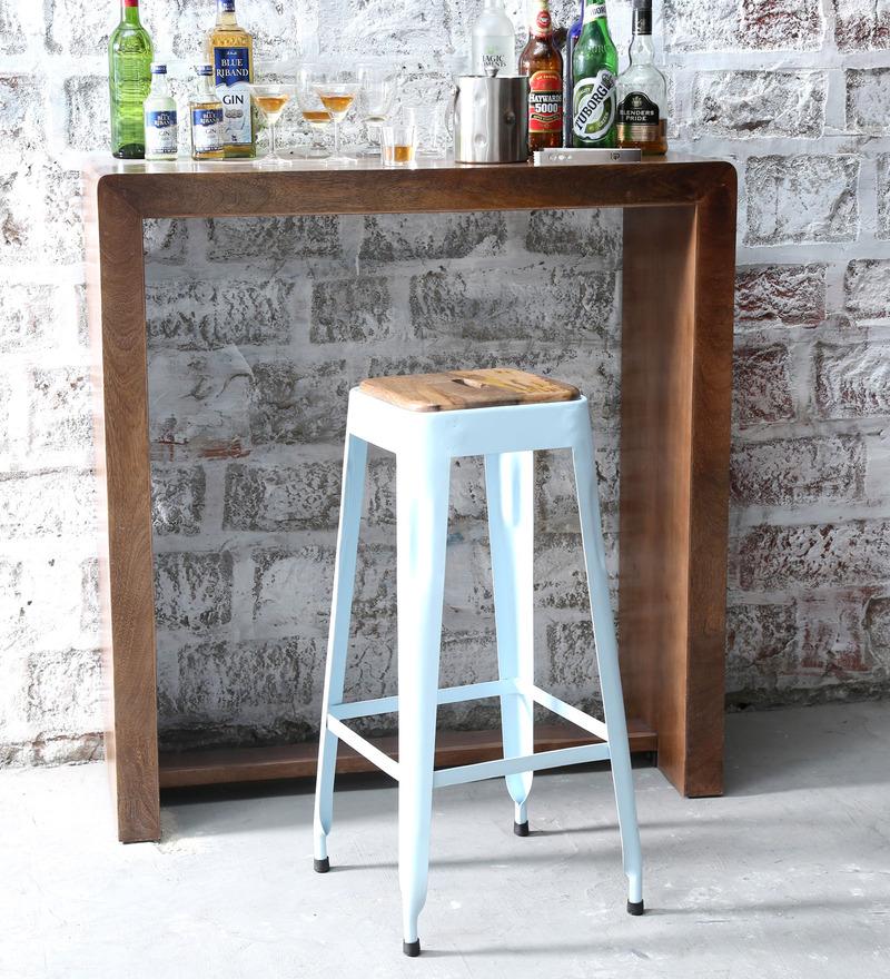Mehia Bar Stool in Off White Colour by Bohemiana