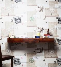 Winlock Wall Shelf Cum Study Table In Honey Oak Finish