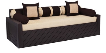libford sofa cum bed with 2 pillow u0026 5 bolster in cream color