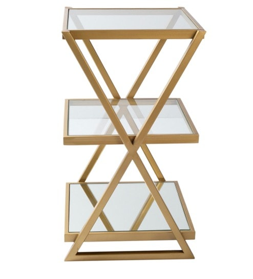 Buy Liverpool End Table In Golden Finish By Claymint Online Contemporary End Tables Tables Furniture Pepperfry Product