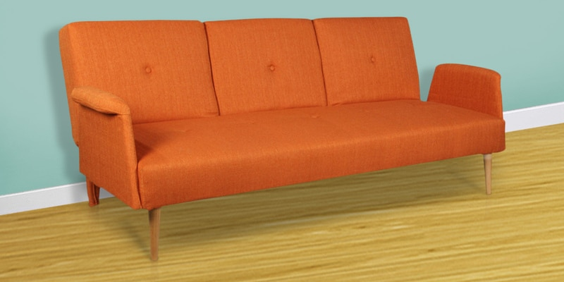 Liana Sofa cum Bed in Orange Colour by HomeTown