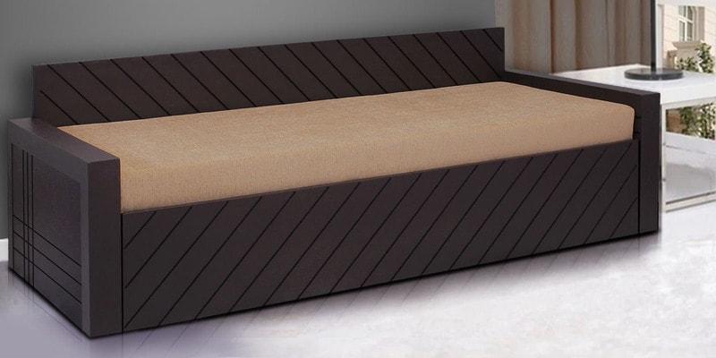 Libford Sofa cum Bed in Brown Colour by Auspicious Home