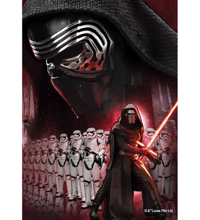 Licensed Starwars Team Darth Vadar Digital Printed with Laminated Wall Poster by Orka