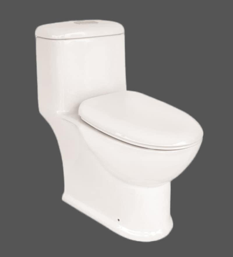 Liquid 200 mm S-Trap White Ceramic One Piece Water Closet (Model: 7014)