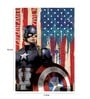Licensed Marvel Captain America with Shield Digital Printed with Laminated Wall Poster