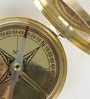 Gold Brass Travel Aid Real Flat Compass by Little India