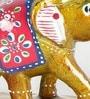 Multicolour Papier Mache Elephant Showpiece Gift - Set of 3 by Little India