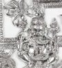 Silver Metal Antique White Swastik Ganesha Hanging Idol by Little India
