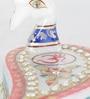 Little India White Marble Gemstone Minakari Mayur Om Design Roli Tika Chopra