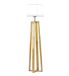 Lodestar Decor White Fabric Floor Lamp
