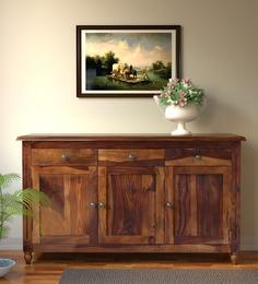 Buy Louis Solid Wood Two Door Cabinet In Honey Oak Finish By
