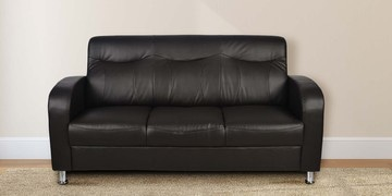 Louisiana Three Seater Sofa In Black Colour By @home