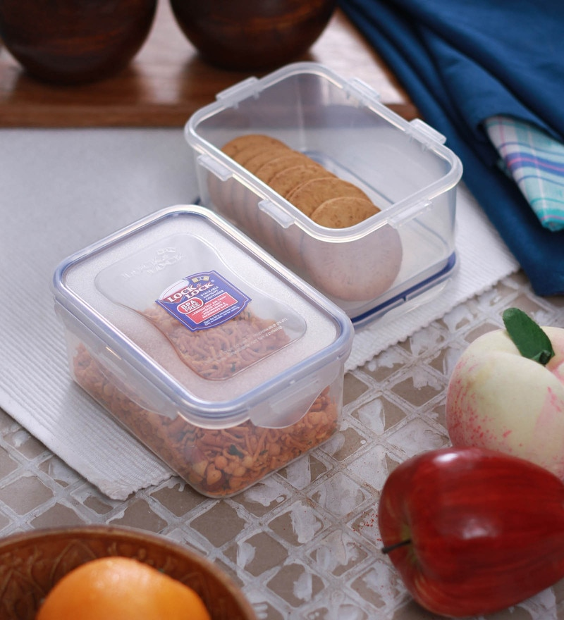 Lock&Lock Classics Transparent 600 Ml Storage Container-Set of 2