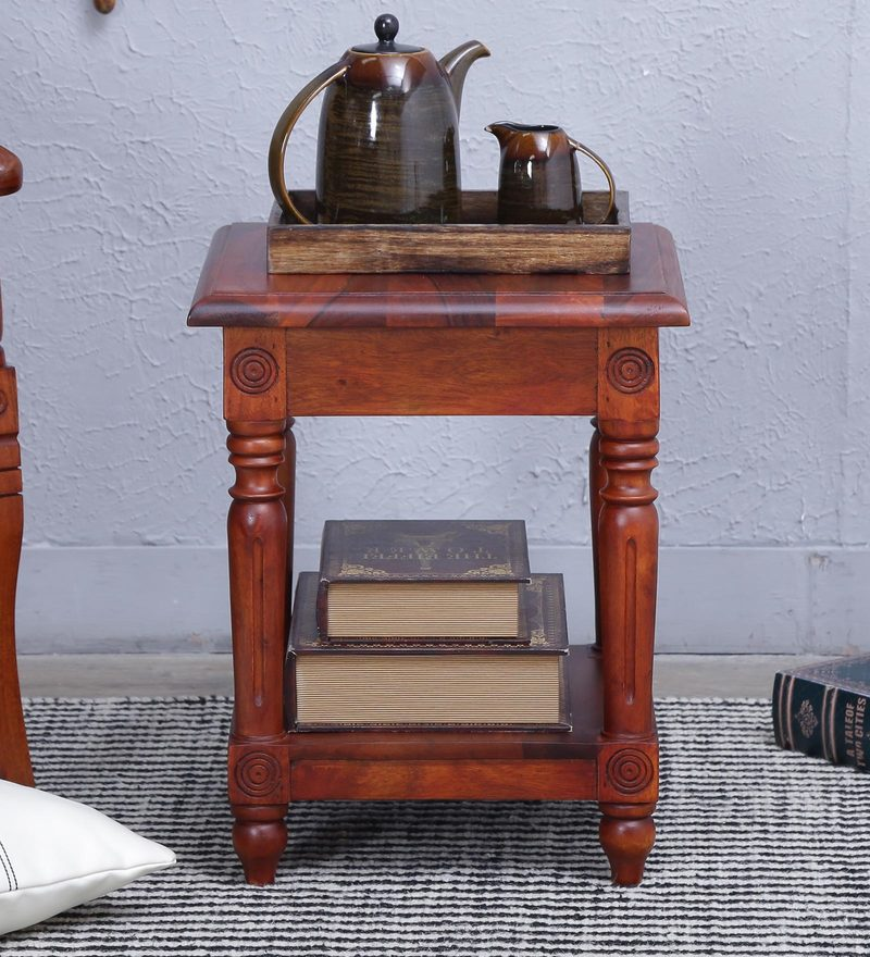 Louis End Table in Honey Oak Finish by Amberville