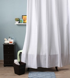 White Polyester 82 X 72 Shower Curtain