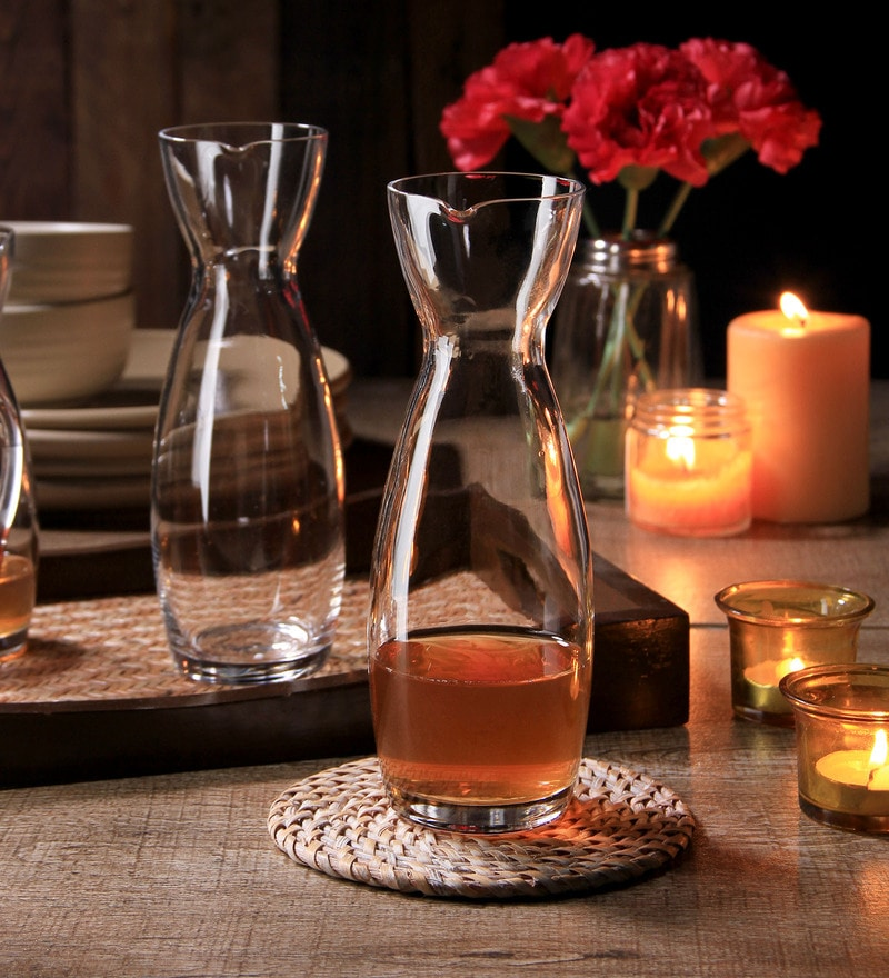 Luigi Bormioli Carafe Perfecta Glass 620 ML Bottle - Set of 2