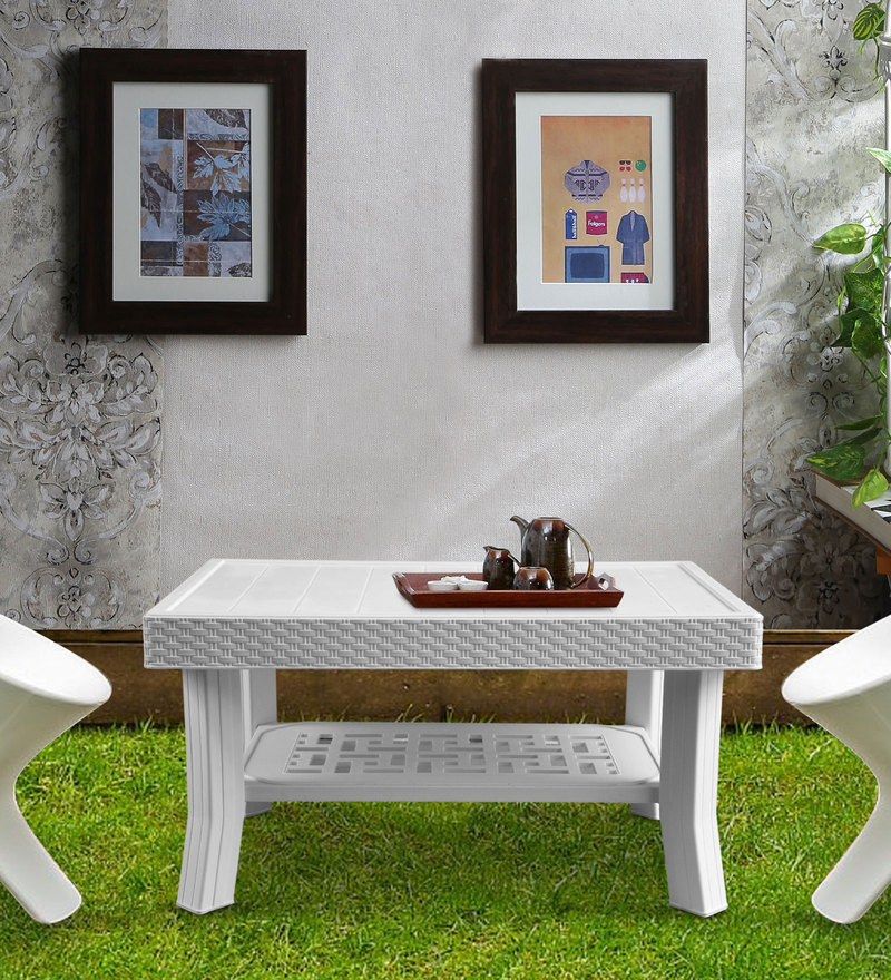 Luxury Center Table in White Matte Finish by Italica