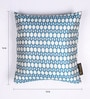 Blue and White Polyester 16 x 16 Inch Jacquard Cushion Covers - Set of 2 by Lushomes