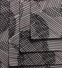Lushomes Geometric Printed Black & White Cotton Placemat & Napkin - Set of 12