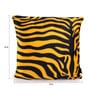 Lushomes Golden Yellow Polyester 12 x 12 Inch Zebra Skin Printed Cushion Covers - Set of 3
