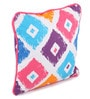 Multicolour Cotton 12 x 12 Inch Square Printed Cushion Covers with Co-Ordinating Cord Piping - Set of 2 by Lushomes