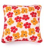 Lushomes Multicolour Cotton 16 x 16 Inch Basic Printed Cushion Covers with Co-Ordinating Cord Piping - Set of 2