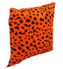Lushomes Orange Polyester 12 x 12 Inch Leopard Skin Printed Cushion Covers - Set of 2