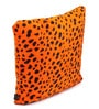 Lushomes Orange Polyester 16 x 16 Inch Leopard Skin Printed Cushion Covers - Set of 2