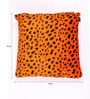 Lushomes Orange Polyester 16 x 16 Inch Leopard Skin Printed Cushion Covers - Set of 5