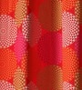 Red Cotton 90 x 54 Inch Spiral Printed Door Curtain with 8 Eyelets & Plain Tiebacks -1 Piece by Lushomes