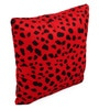 Lushomes Red Polyester 12 x 12 Inch Leopard Skin Printed Cushion Covers - Set of 3