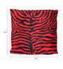 Lushomes Red Polyester 16 x 16 Inch Zebra Skin Printed Cushion Covers - Set of 2