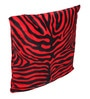 Lushomes Red Polyester 16 x 16 Inch Zebra Skin Printed Cushion Covers - Set of 5