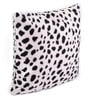 Lushomes White Polyester 12 x 12 Inch Leopard Skin Printed Cushion Covers - Set of 3