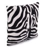 Lushomes White Polyester 12 x 12 Inch Zebra Skin Printed Cushion Covers - Set of 3