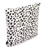 White Polyester 16 x 16 Inch Leopard Skin Printed Cushion Covers - Set of 2 by Lushomes