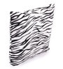 White Polyester 16 x 16 Inch Tiger Skin Printed Cushion Covers - Set of 5 by Lushomes