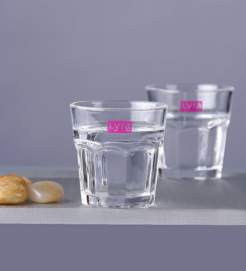 Lyra Mazda Glass 250 ML Juice Glasses - Set of 6