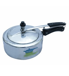 Madhu Aluminium Classic White 3 Litres Pressure Cooker With Inner Lid
