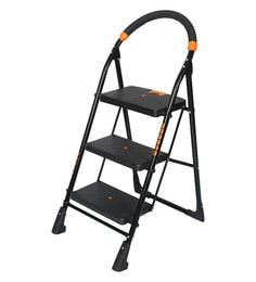Magna Homewares Premium Heavy Folding Ladder With Wide Steps POLLUX 3 Steps 3.1 Ft Ladder