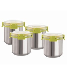 Magnus Stainless Steel Airtight & Leak Proof 750 ML Containers - Set Of 4
