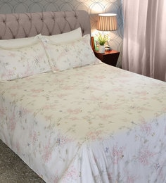 Mariana 210 TC 100% Cotton King Size Bedsheet With 2 Pillow Covers ...