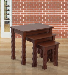 Mario Nest of Tables (Set of 3) in Walnut Finish ... & Living Room Table Sets - Buy Sets Of Tables Online in India at Best ...