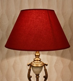 Lamp shades buy table lamp shades online in india pepperfry maroon cotton empire lamp shade aloadofball Choice Image