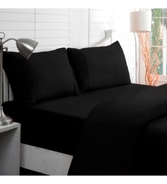 Maspar Blacks Solids Cotton Bed Sheet - Set Of 3