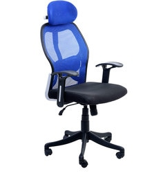 Matrix High Back Executive Chair in Blue Colour by Emperor at pepperfry