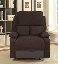 Matt One Seater Recliner with Cup Holder in Chocolate Colour : recliners india - islam-shia.org