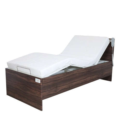 Buy Marco Gravity Single Bed In Walnut Finish By Zerog Online Modern Single Beds Beds Furniture Pepperfry Product